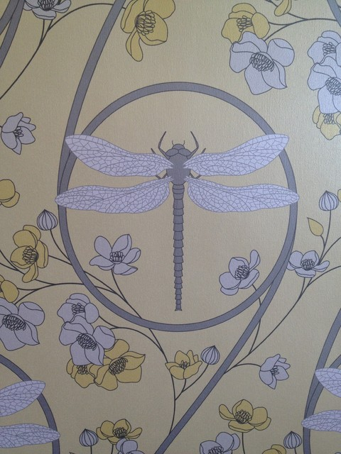 Dragonfly Yellow Wallpaper detail   Asian   Wallpaper   toronto   by 480x640