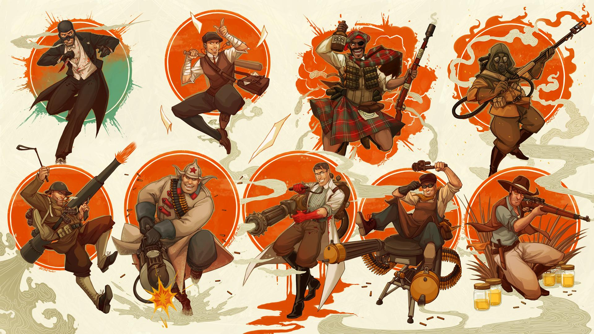 Free Download Video Game Team Fortress 2 Wallpaper 1920x1080 For