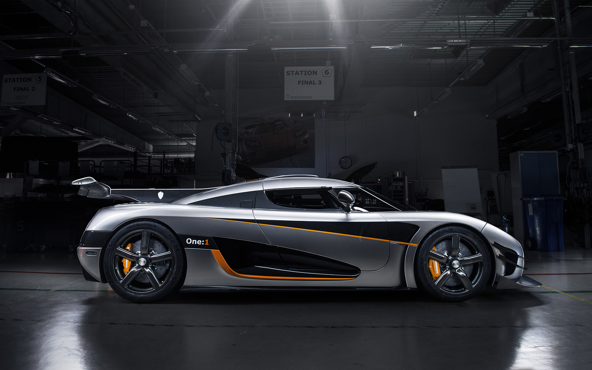 Koenigsegg Agera One Silver HD Wallpaper 1920x1200
