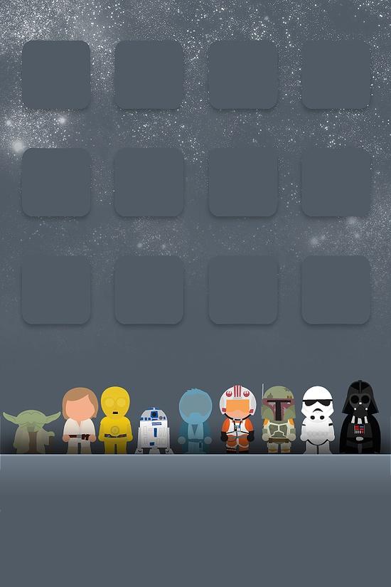iGeek Star Wars iPhone Background Wordless Wednesday 550x825