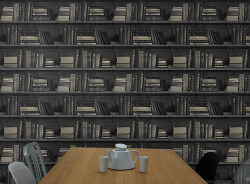 Bookshelf Wallpaper   Dark Bookshelf Wallpaper 500x367