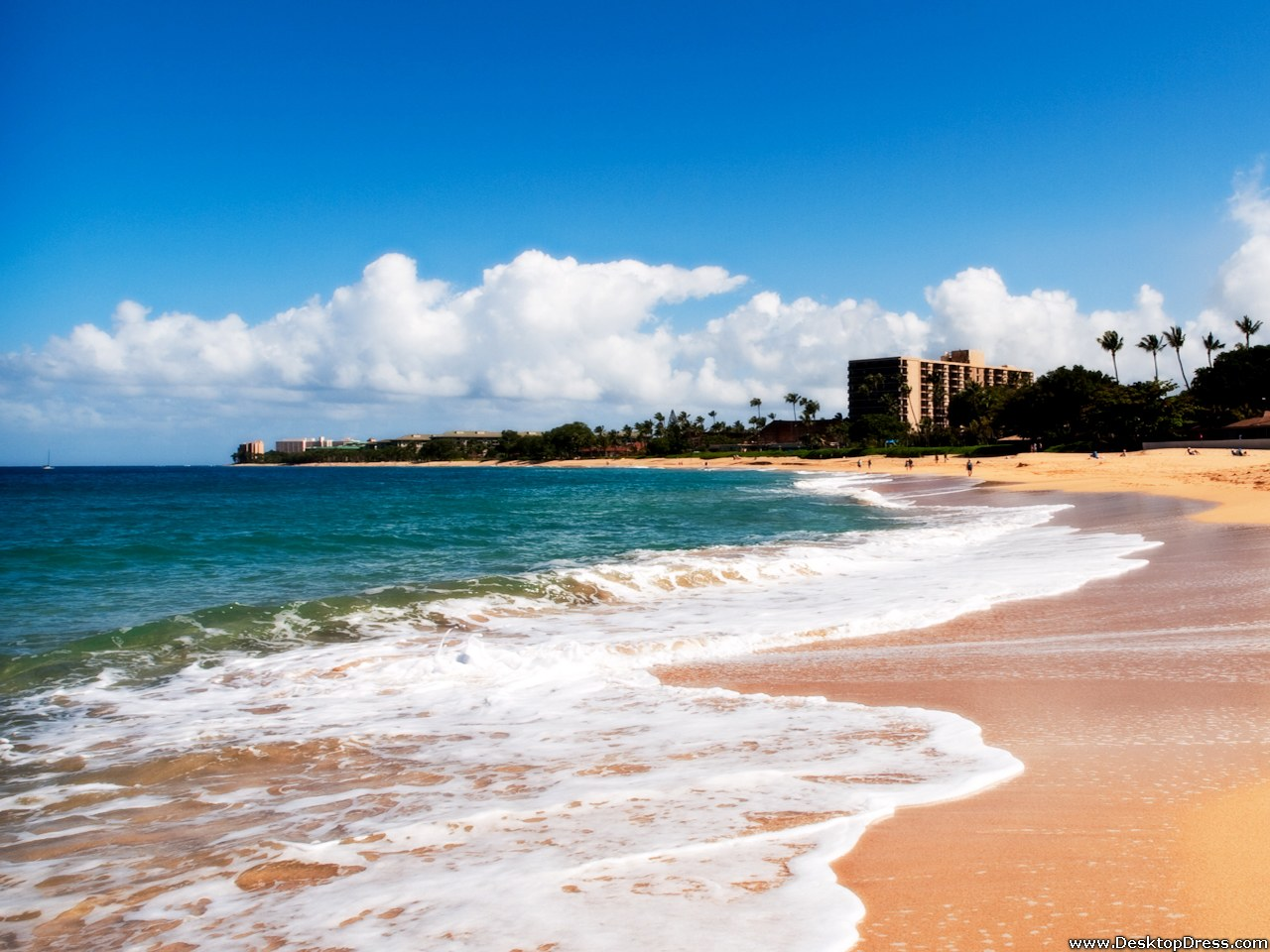 Desktop Wallpapers Other Backgrounds Kaanapali Beach Maui 1280x960