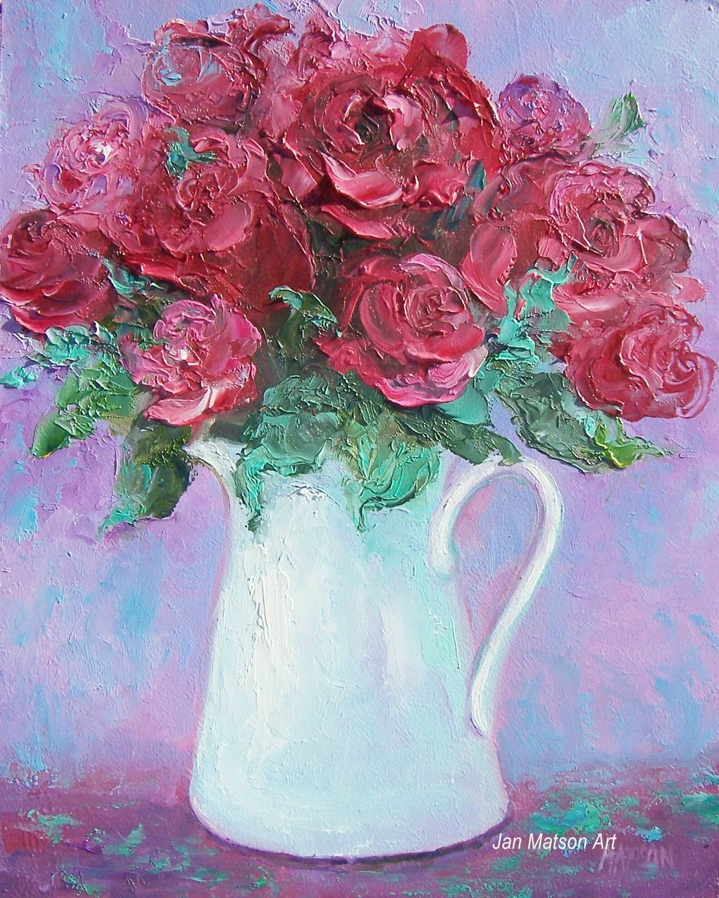 Red Rose Oil Painting   PicsAnt 1024x1279