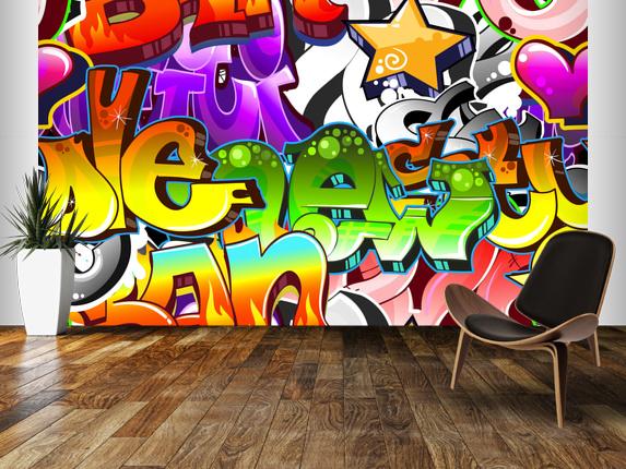 Graffiti Wall Art Wall Mural Graffiti Wall Art Wallpaper 573x430