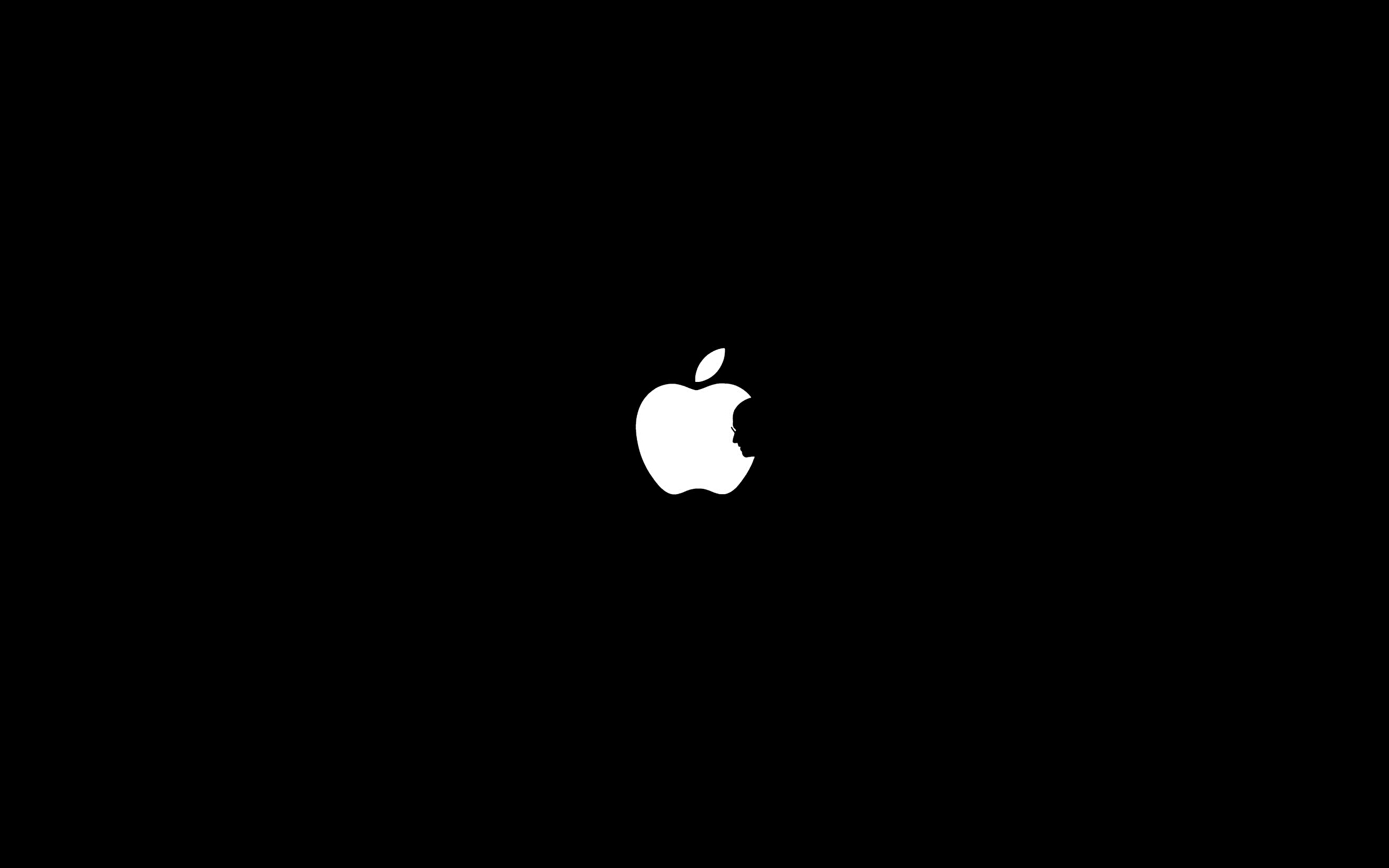 is a rather simple but beautiful tribute to Steve Jobs in wallpaper 2560x1600