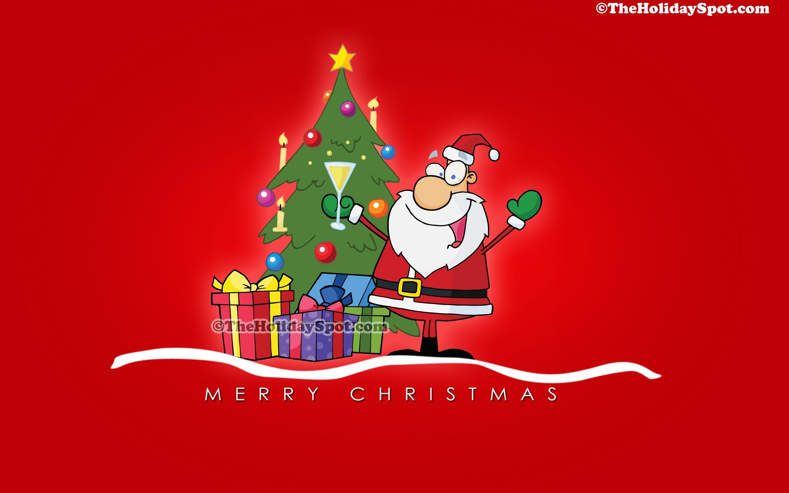 Christmas Cartoon Wallpaper 2560x1600