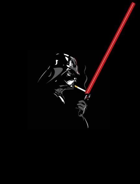 Star Wars Darth Vader Lighting a Cigarette Wallpaper for Amazon Kindle 450x590
