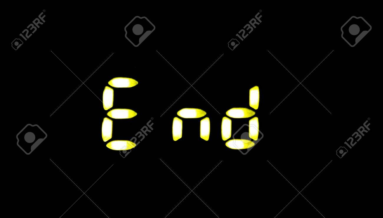 End In Digital Letters On A Crisp Background Stock Photo Picture 1300x742