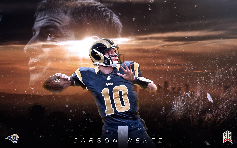 Carson Wentz LA Rams wallpaper LosAngelesRams 2880x1800