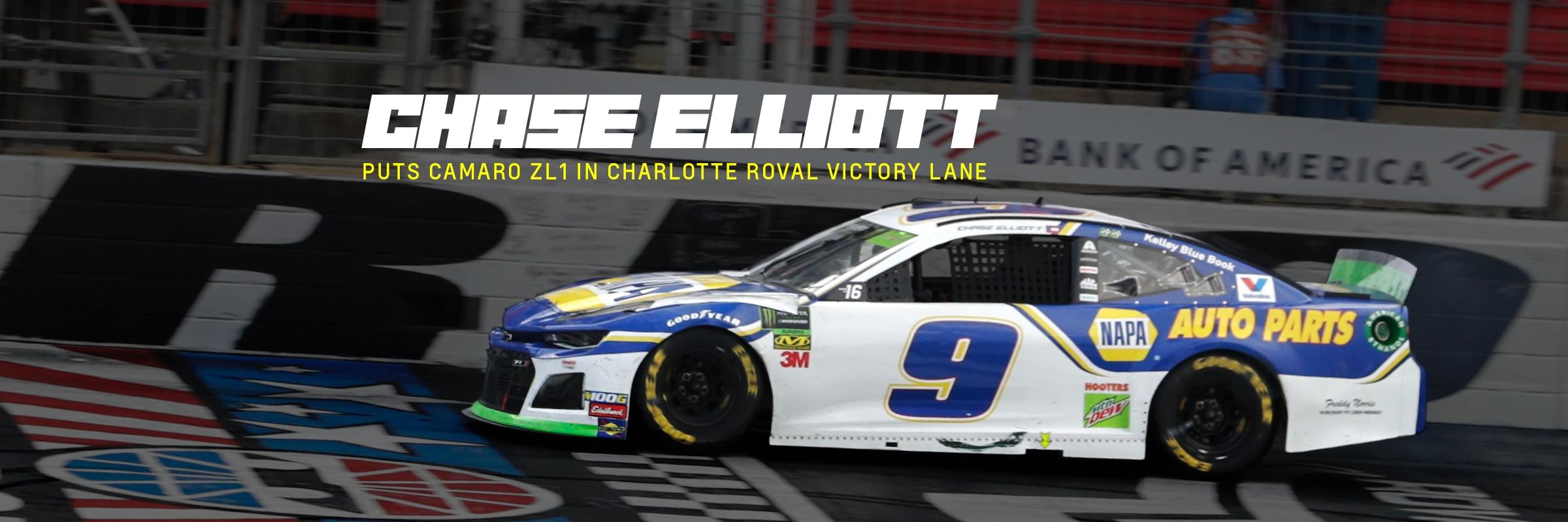 Chase Elliott Puts Camaro ZL1 in Charlotte Roval Victory Lane 2400x800