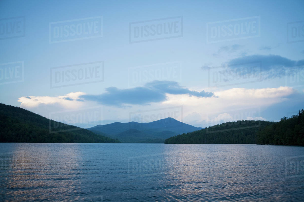 Lake Placid with Whiteface Mountain in background   Stock Photo 1200x800