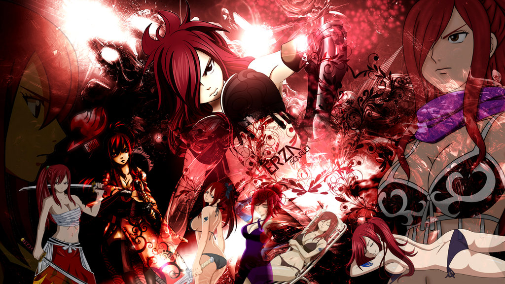 Fairy Tail   Erza Scarlet Wallpaper HD by FairyTail666 1024x576