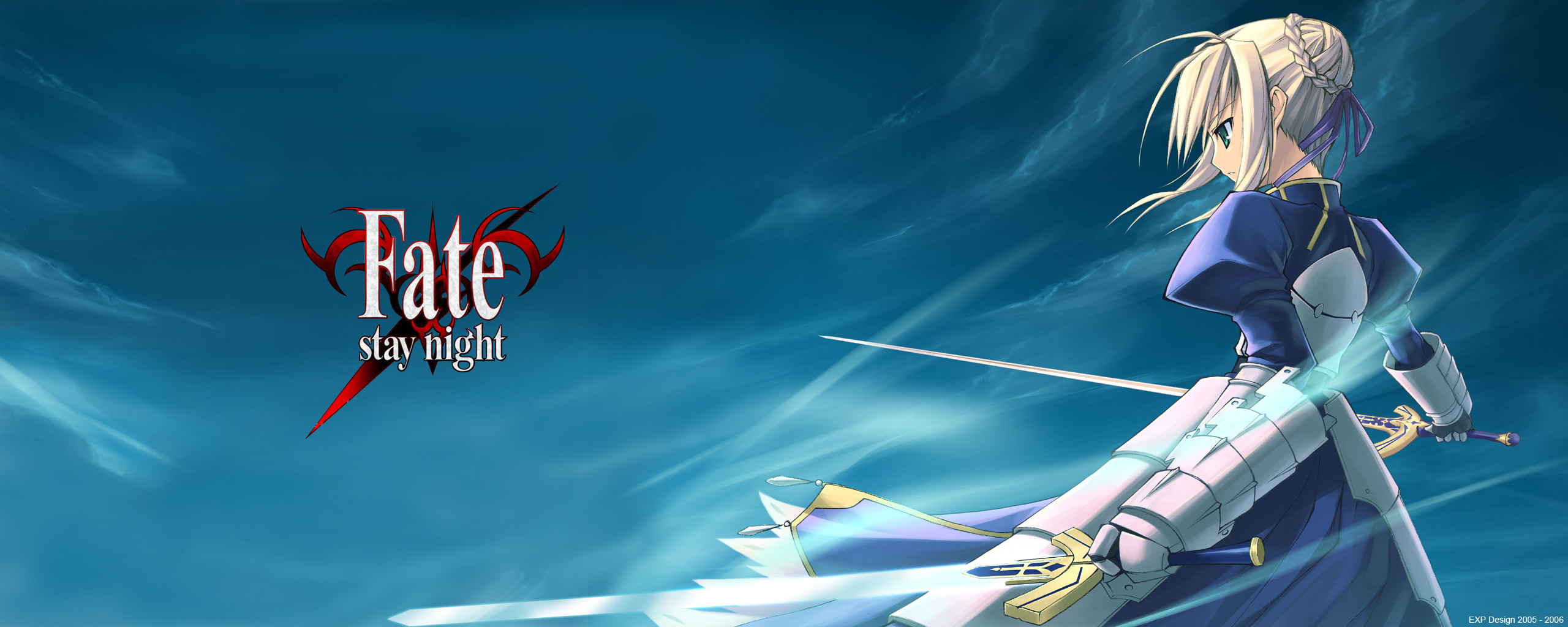 Muryou Anime Wallpaper Fate Stay Night Saber 2560x1024