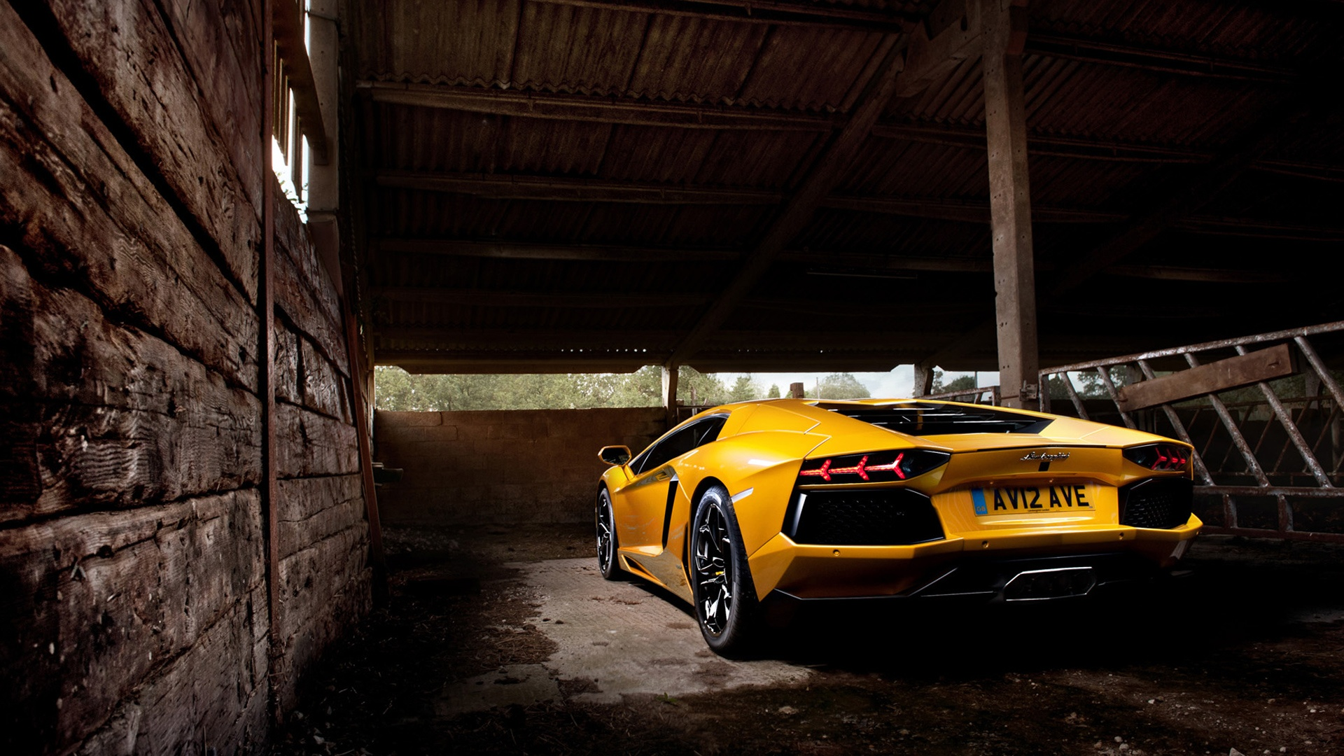Yellow Lamborghini Aventador 2 Wallpaper HD Car Wallpapers 1920x1080
