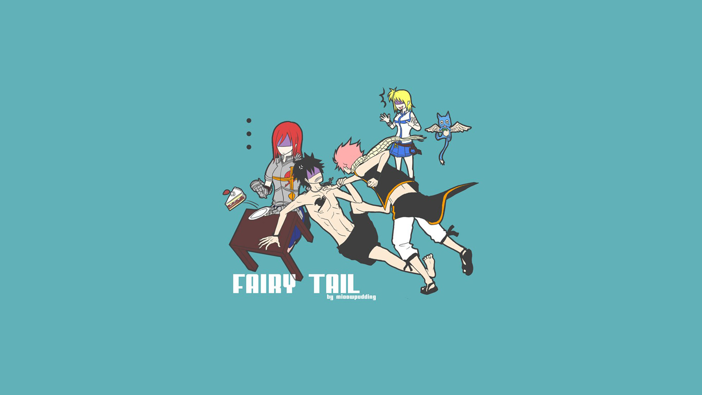 Download Wallpaper Fairy Tail Happy Iphone Wallpaper 1366x768