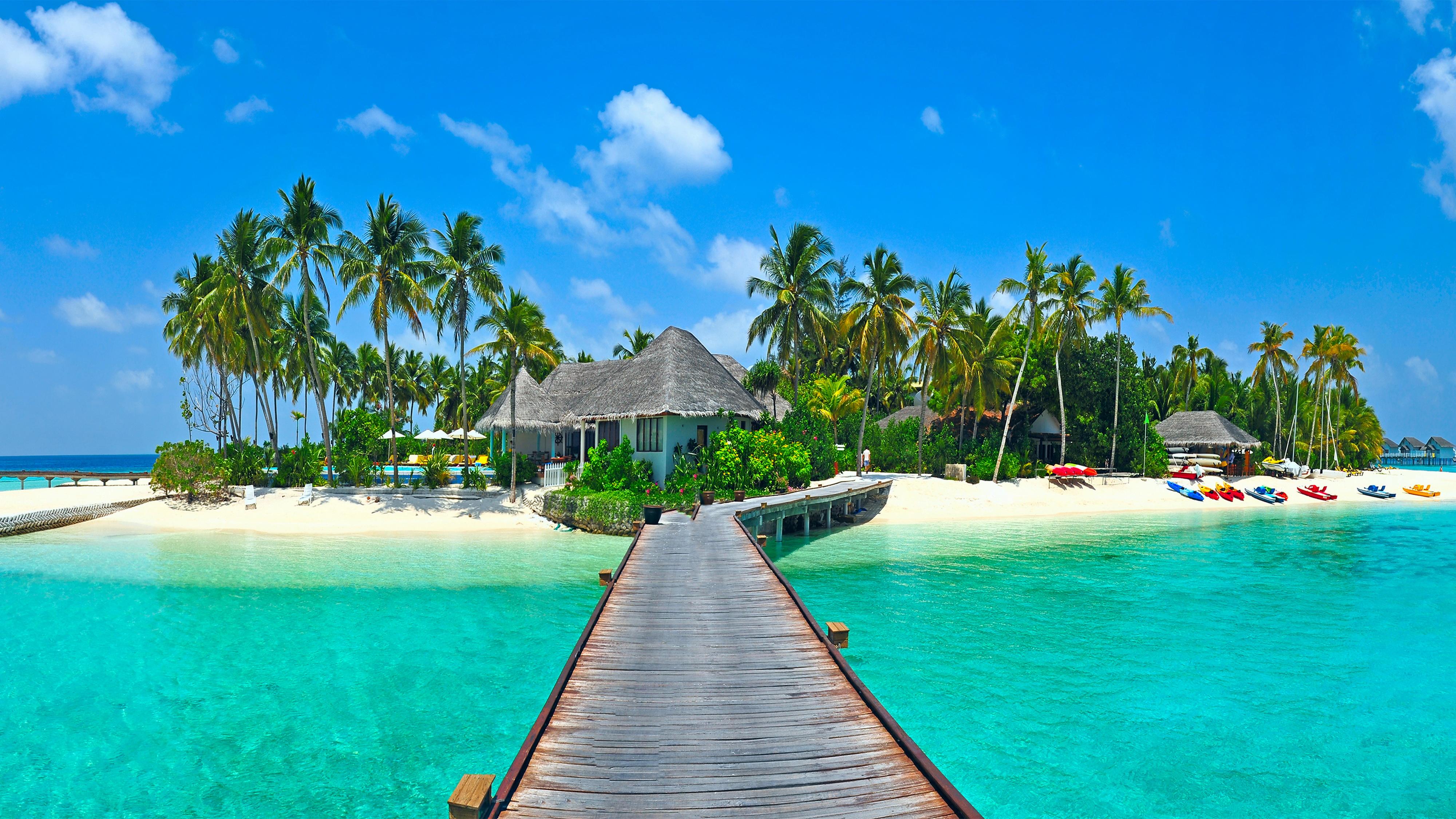 Tropical Beach Wallpaper Desktop Background - Bhstorm.com