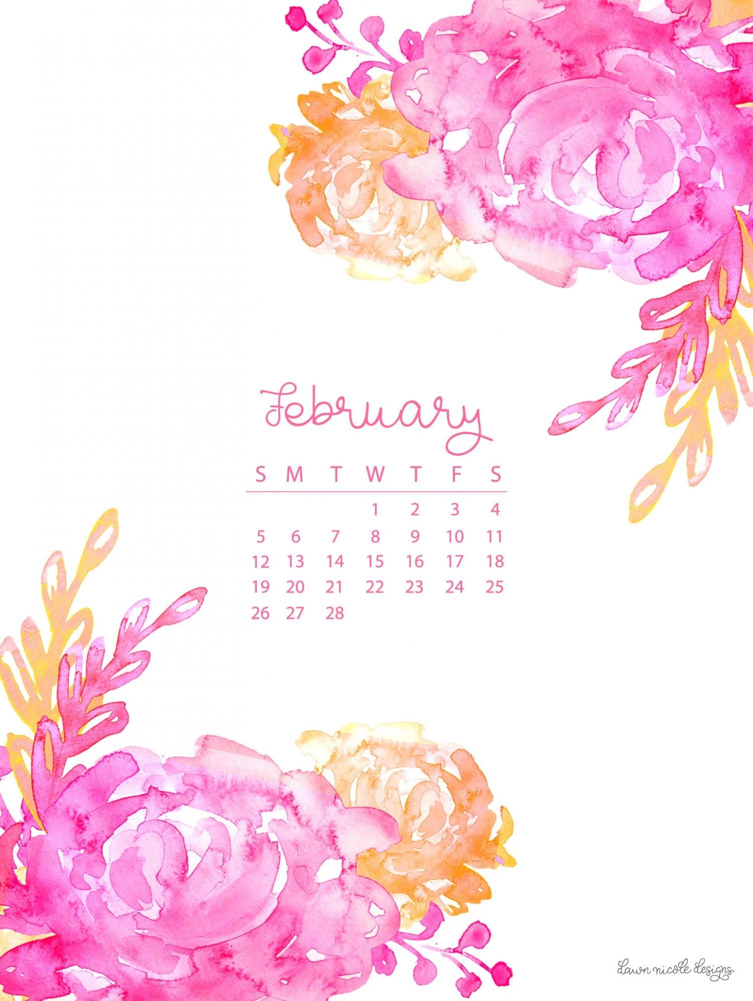 February 2018 Wallpaper Calendar 63 images 1504x2000