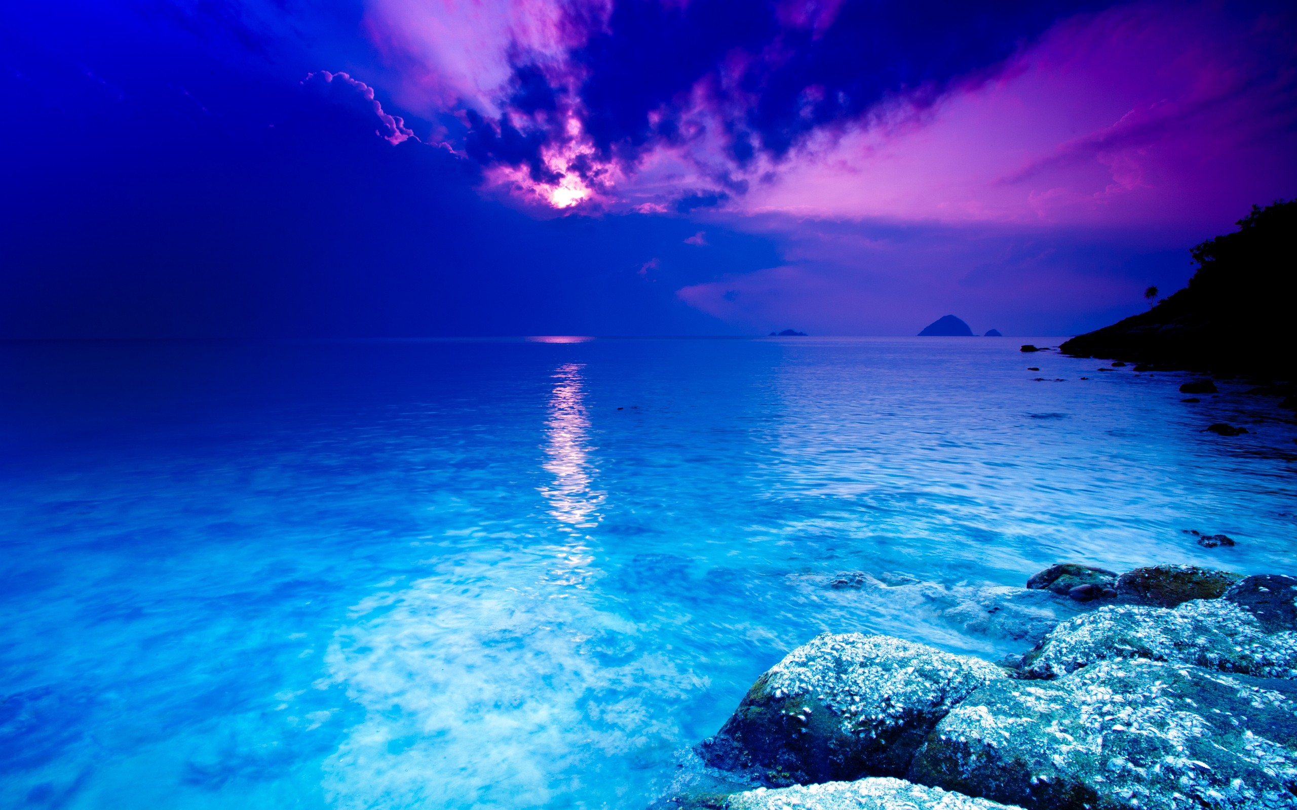 Blue Sea Wallpaper 2560x1600 Blue Sea Crystal Thailand 2560x1600