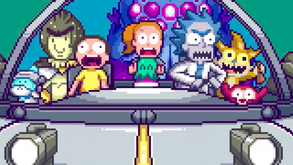 Retro 8 Bit Intro for Adult Swims RICK AND MORTY GeekTyrant 1000x563