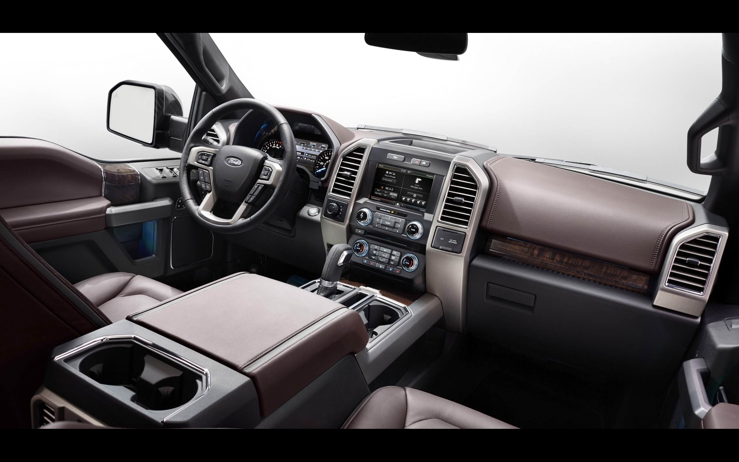 2015 Ford F 150 Platinum pickup interior g wallpaper background 2560x1600