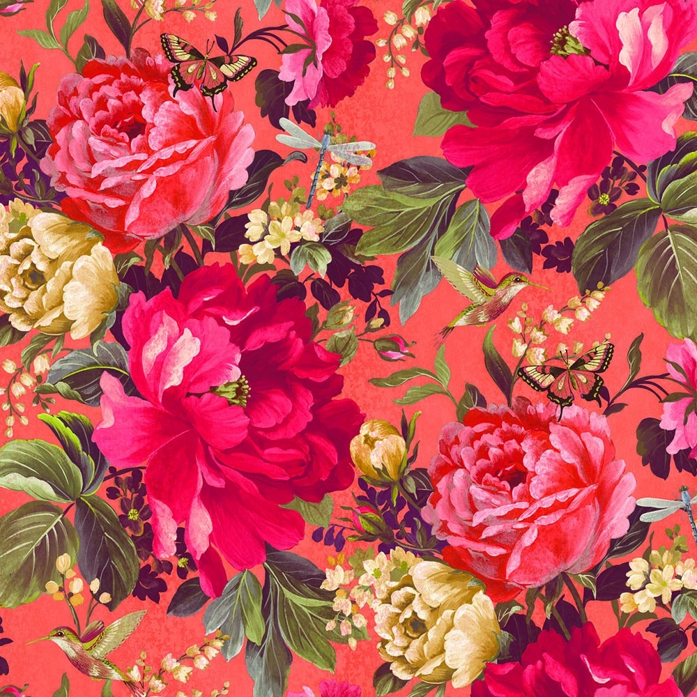 A Shade Wilder Dianthus Floral Wallpaper Tiger Lilly 300112 1000x1000