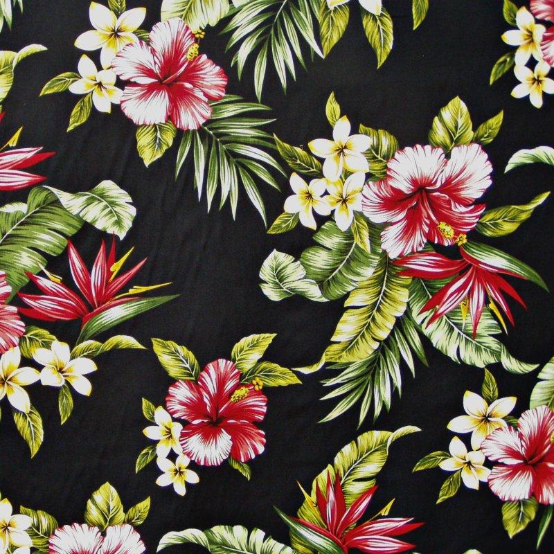 Tropical Print Wallpaper Tropical Floral Print Black 800x800