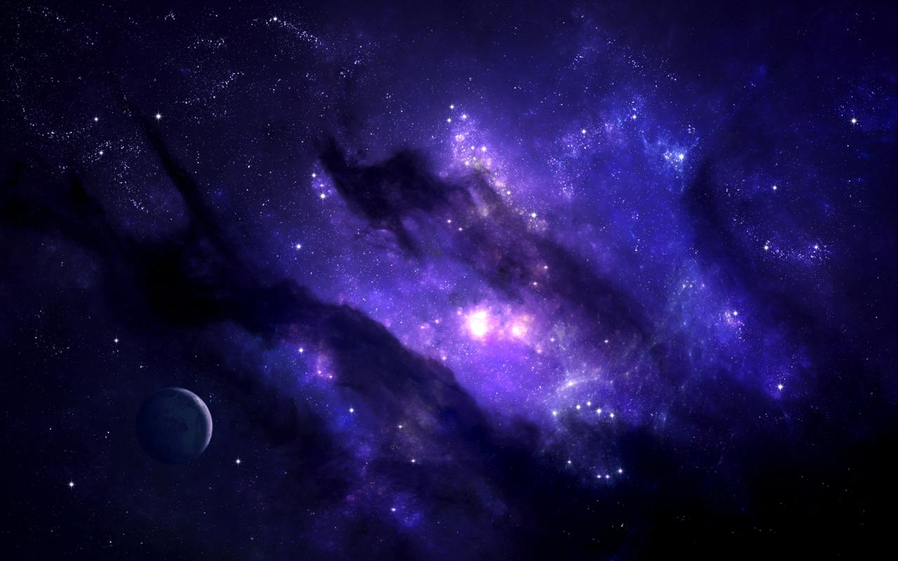 Hd purple space wallpaper wallpapersafari - Blue space hd ...