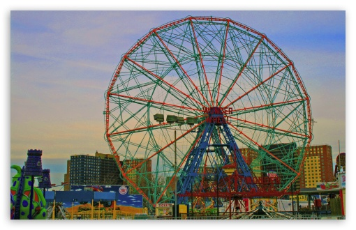 Coney Island Ferris Wheel HD wallpaper for Standard 43 54 Fullscreen 510x330