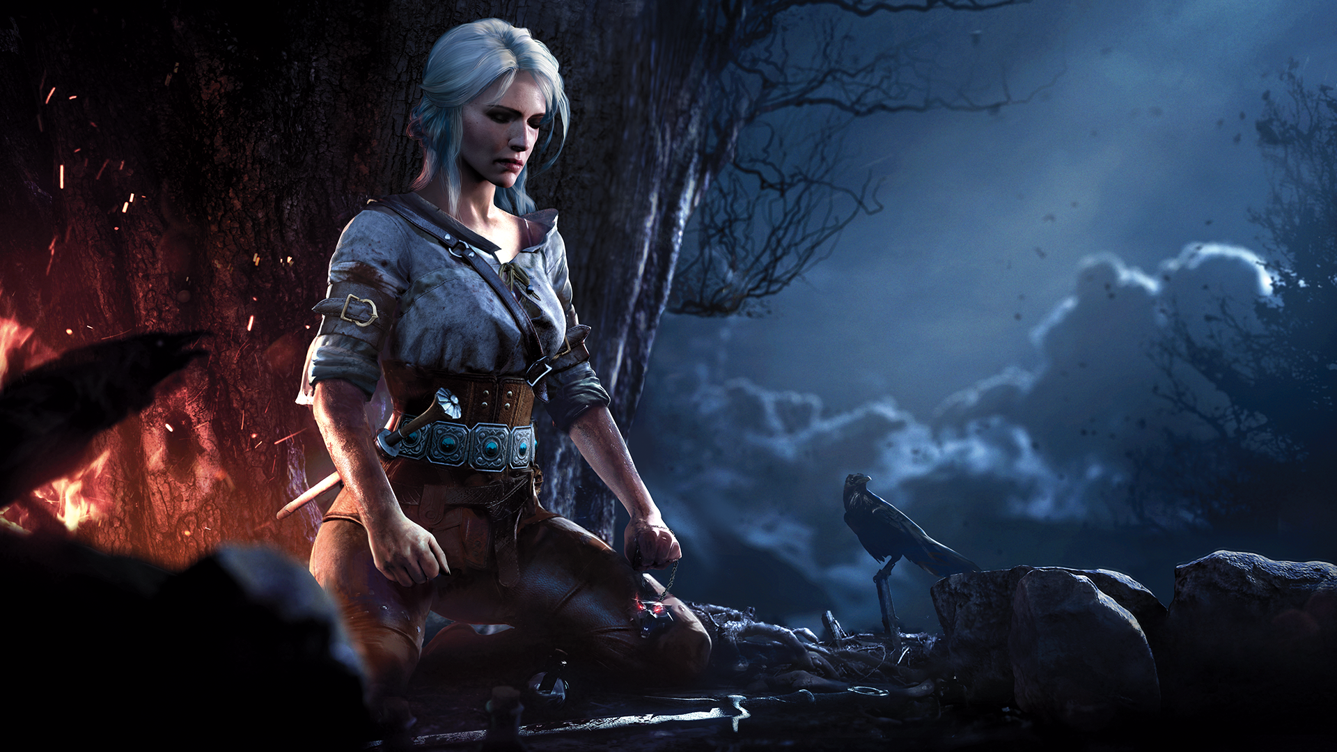 Ciri meditating wallpaper Witcher The witcher The witcher 1920x1080