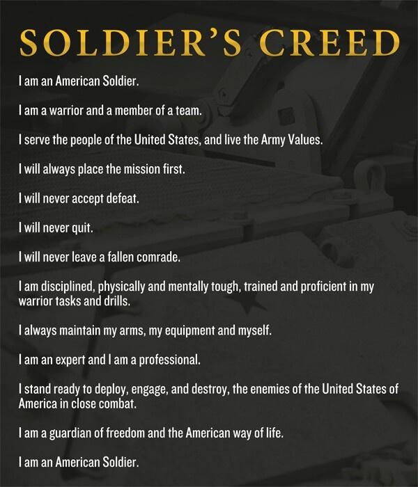 Soldier S Creed Wallpaper - WallpaperSafari