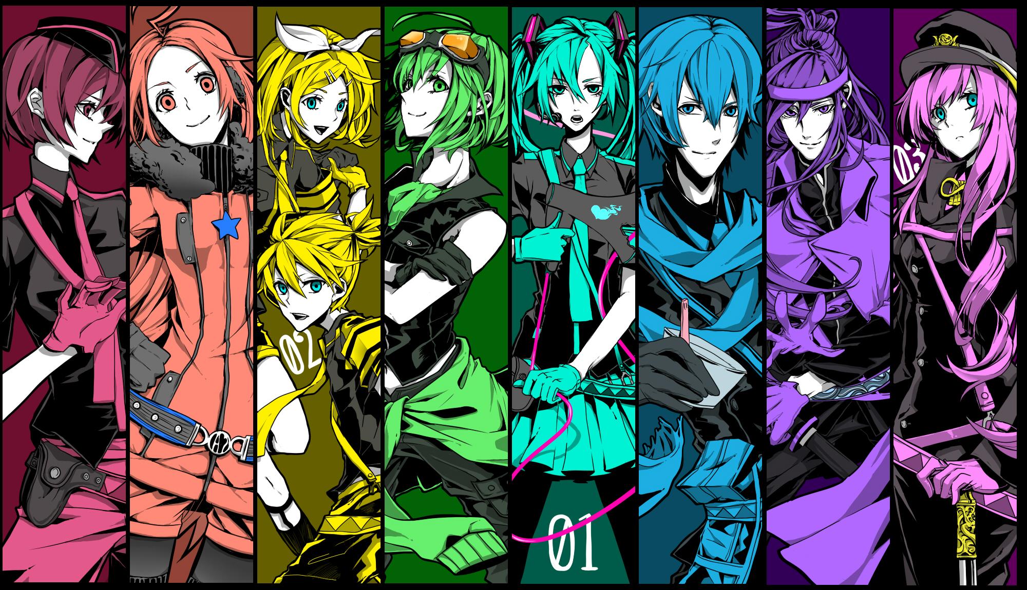 Vocaloid hatsune miku kagamine rin megurine luka kagamine len 2000x1150
