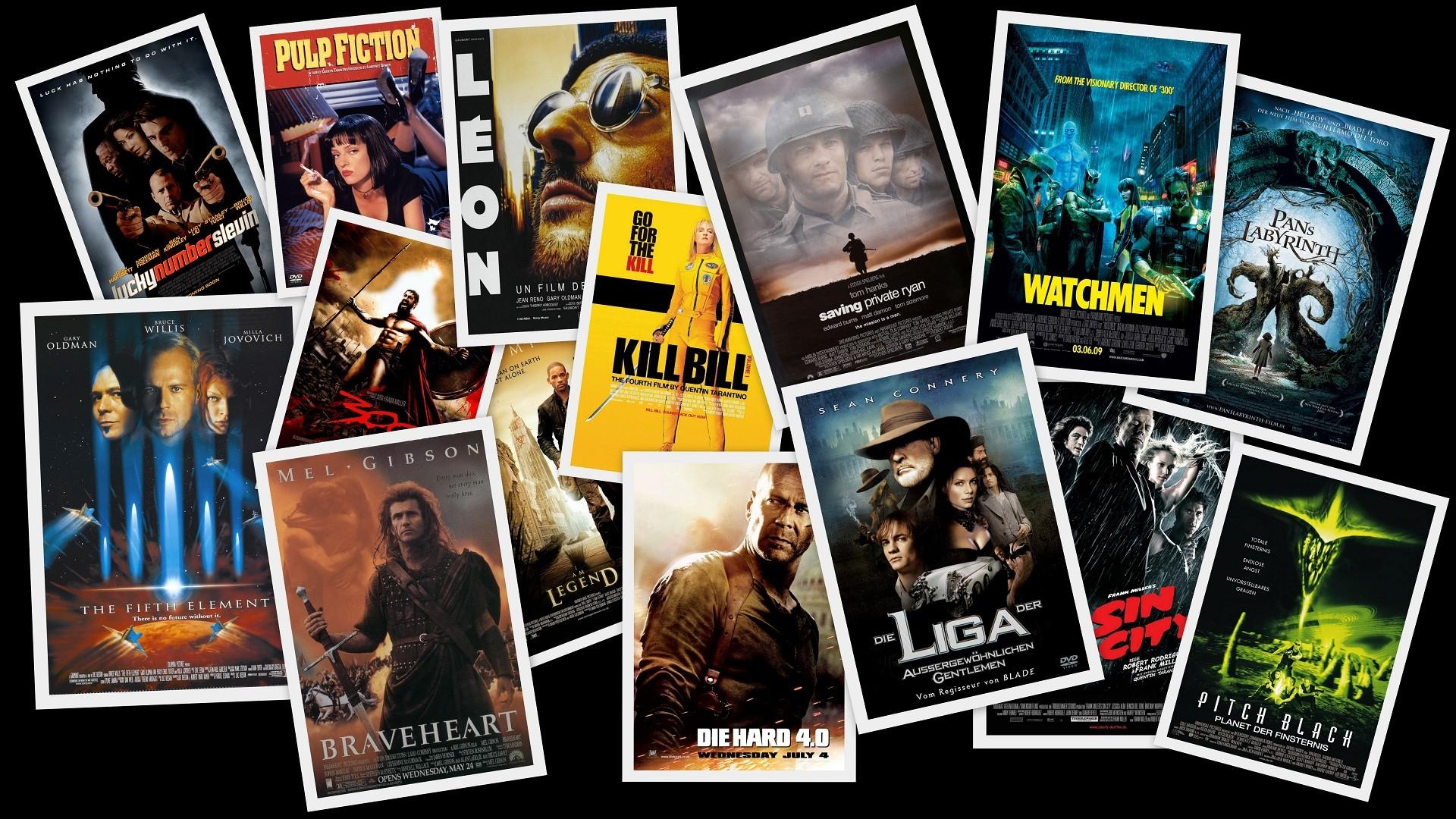Movies digital art collage movie posters fan art wallpaper 1920x1080 1920x1080