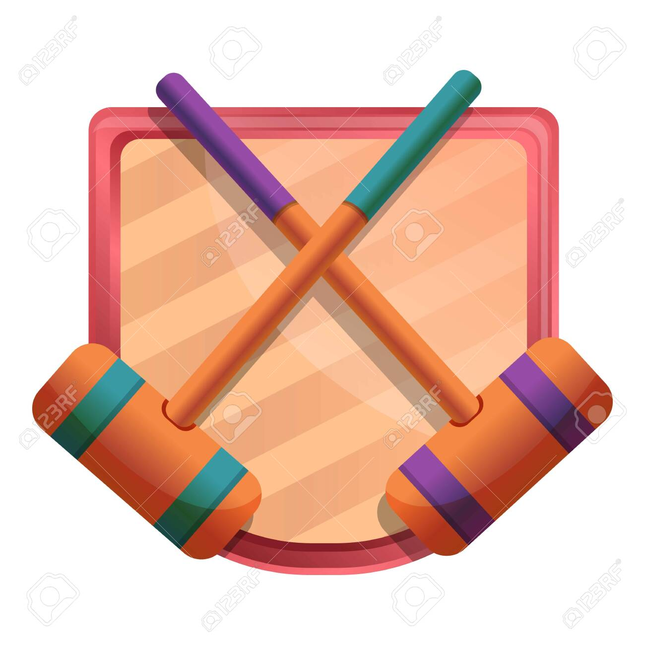 Croquet Mallet Icon Cartoon Of Croquet Mallet Vector Icon For 1300x1300