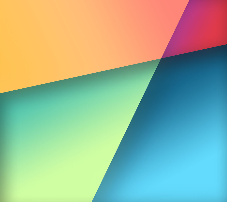 Nexus 7 Stock Wallpaper in Google Play Colors by R3CONN3R on 948x843