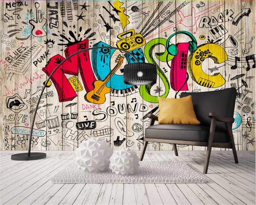 beibehang Custom wallpaper murals personality nostalgic hand drawn 1000x800