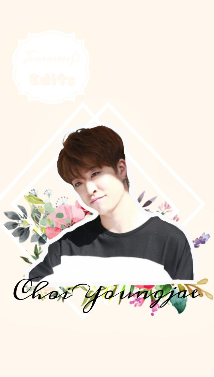 wallpaper youngjae Got7 flowers choiyoungjae cute paste 750x1319