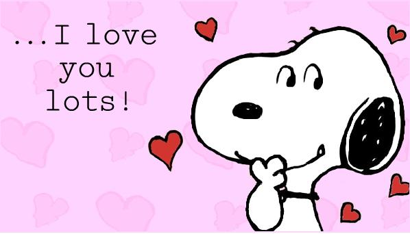Snoopy Valentine Cards Love Heart Snoopy Cards 2014 598x342