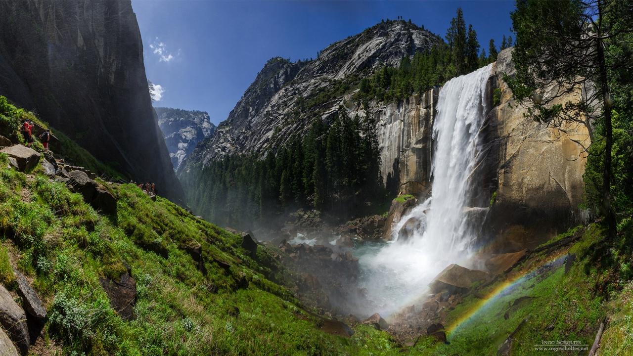 Vernal Fall Yosemite National Park Wallpapers HD Wallpapers 1280x720