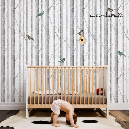 wallpaper repositionable birch tree peel and stick fabric wallpaper 500x500