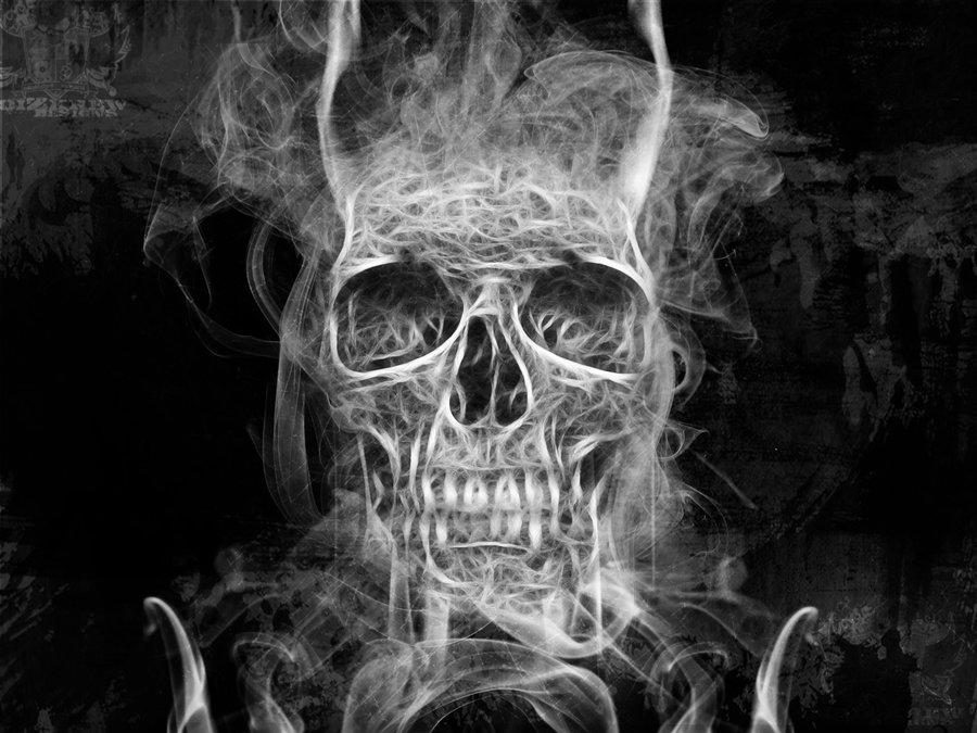 Smoke Skull by noizkrew 900x675