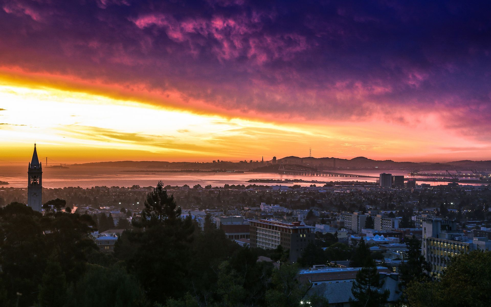 UC Berkeley sunset California wallpaper 17889 1920x1200