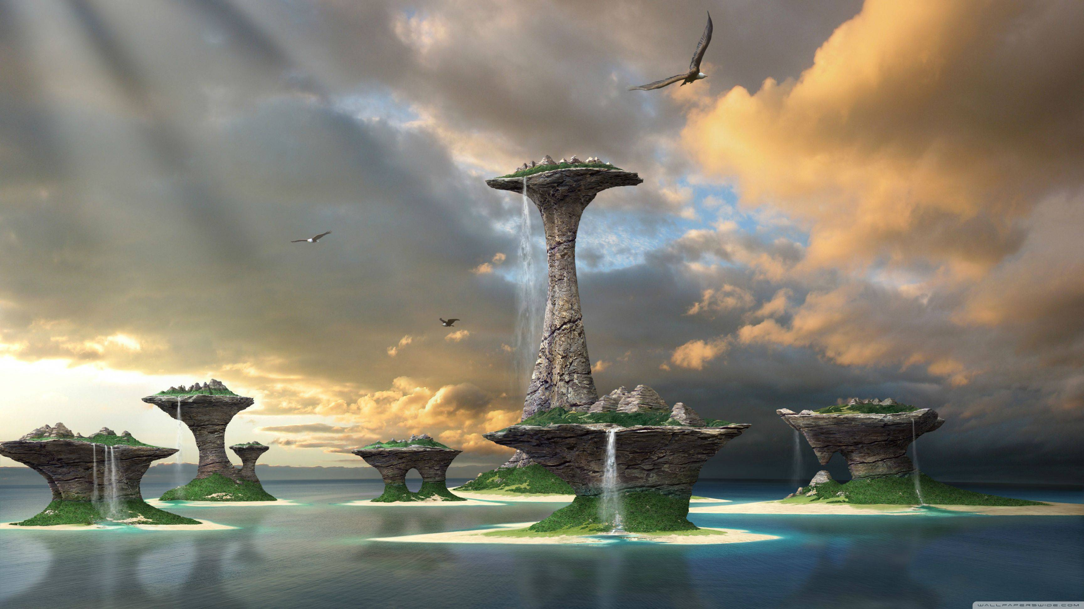 Alien world desktop wallpaper wallpapersafari for Wallpaper wallpaper wallpaper