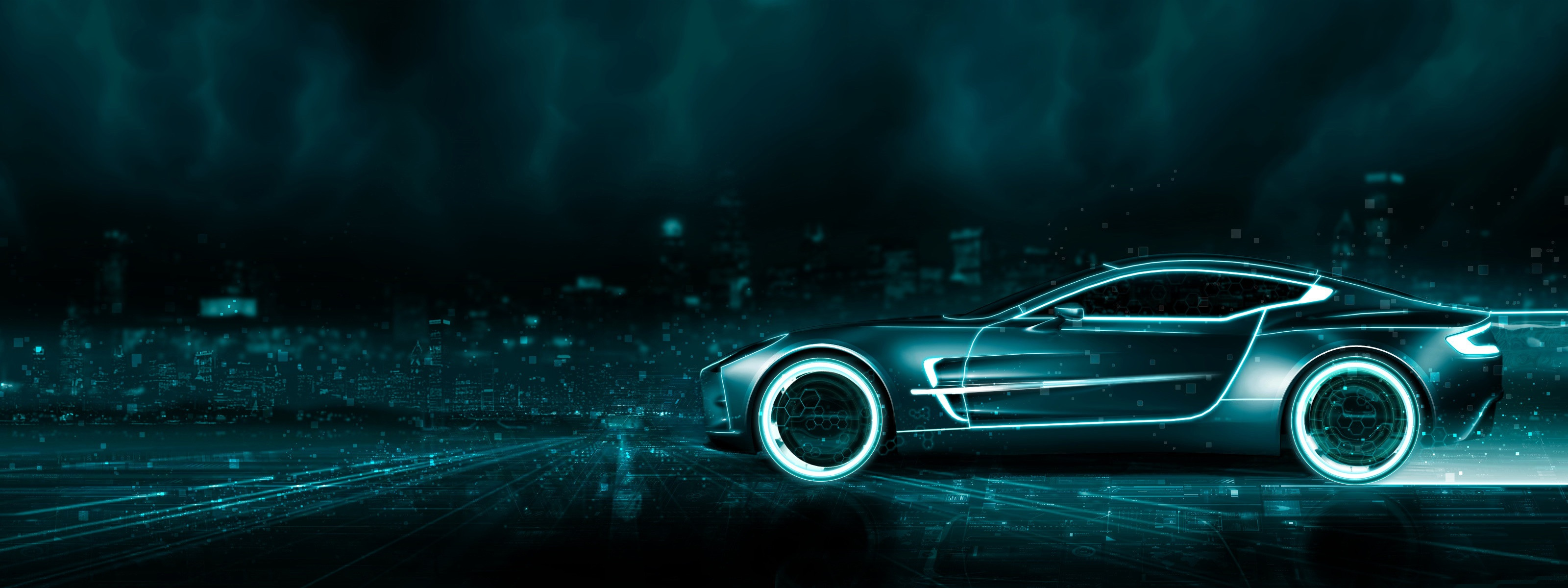 Tron Aston Martin Wallpapers HD Wallpapers 3200x1200