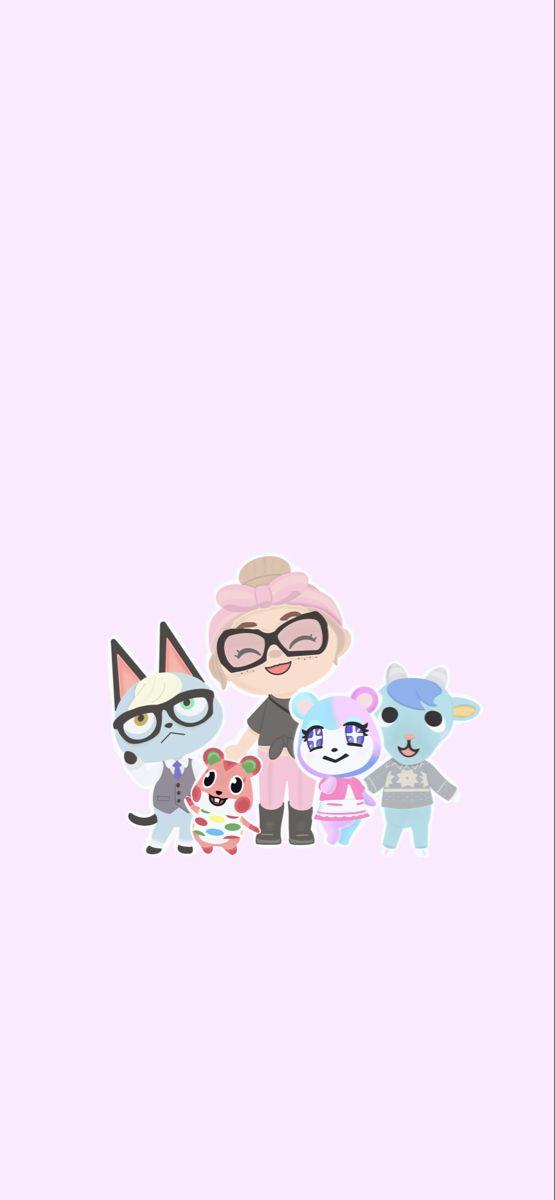 Hand Drawn Animal Crossing Wallpaper Animal crossing fan art 555x1200