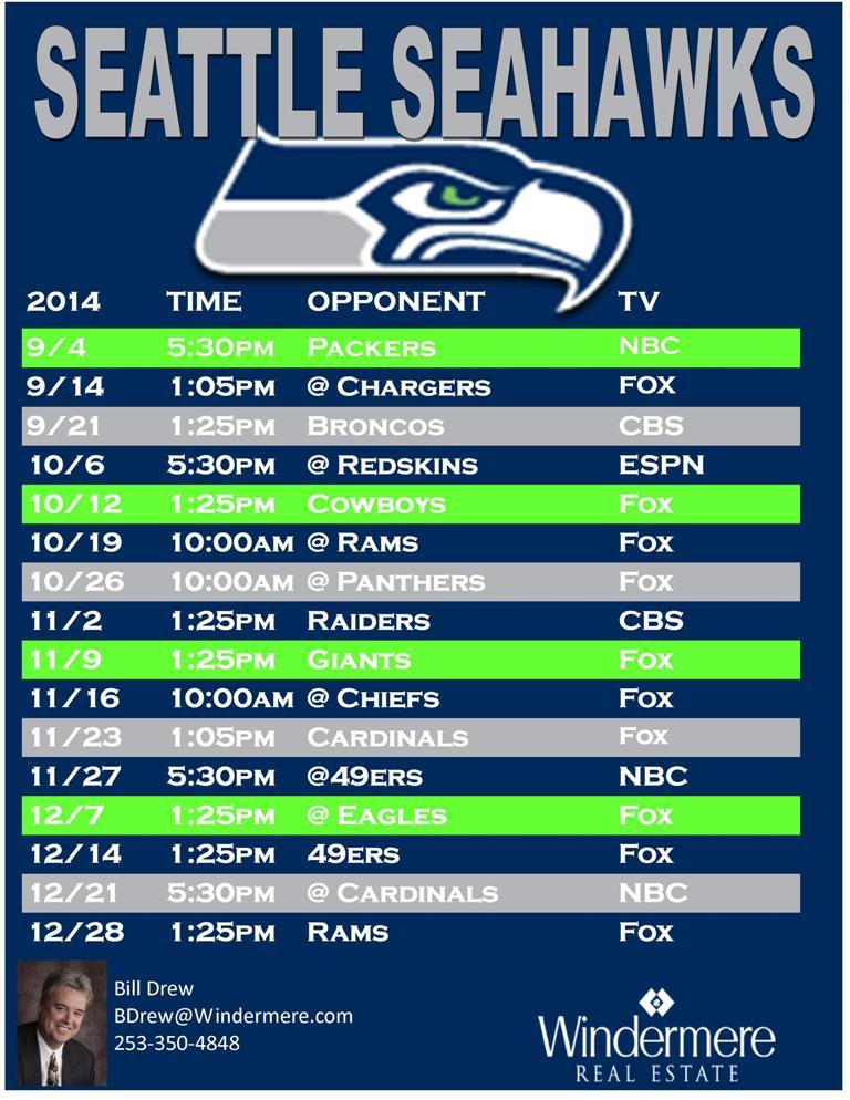 Seahawks Schedule 2016 Seattle Seahawks Schedule 2015 Kentucky 768x994