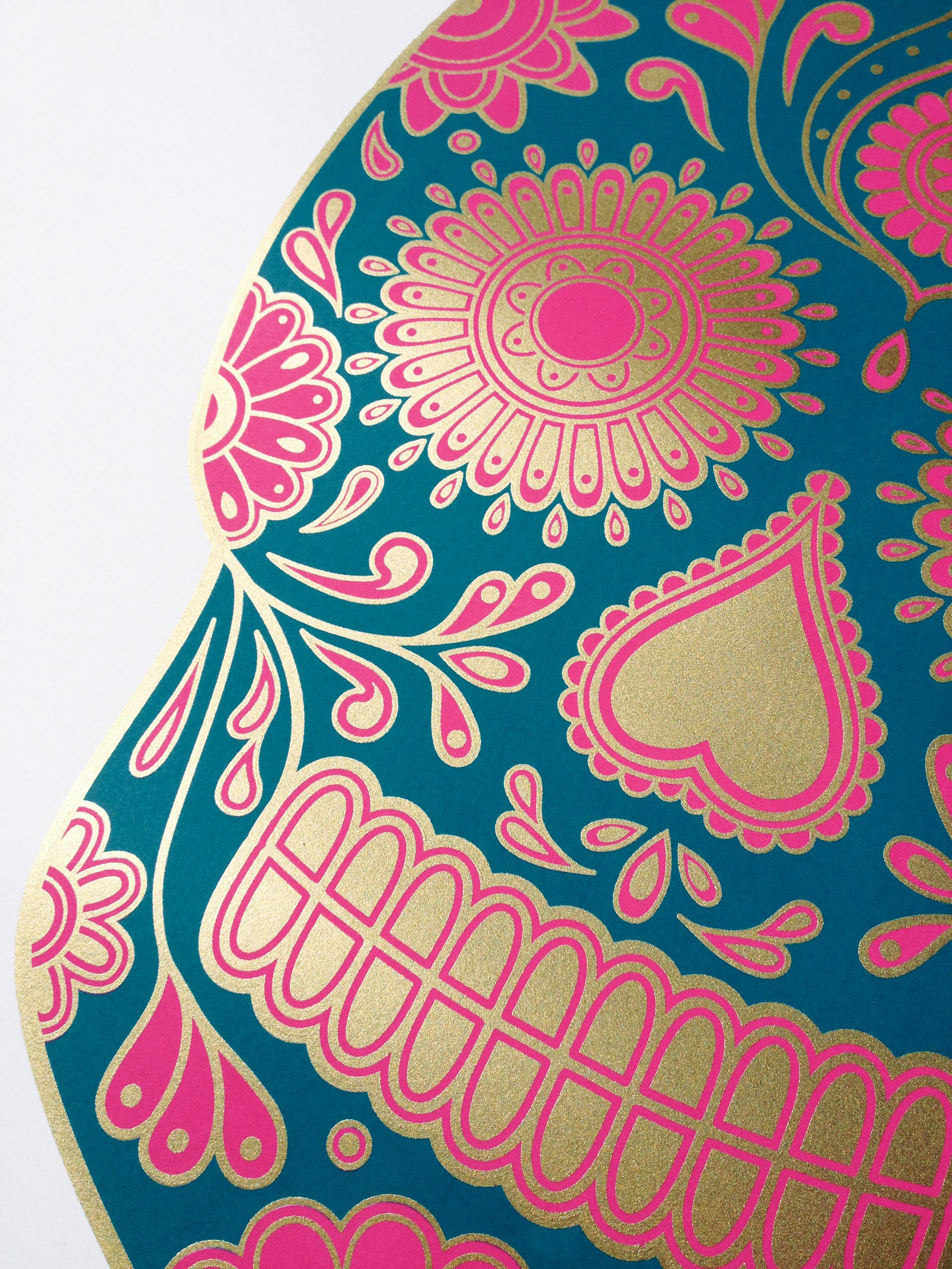 Sugar Skull Wallpaper Detail 3 2448x3264