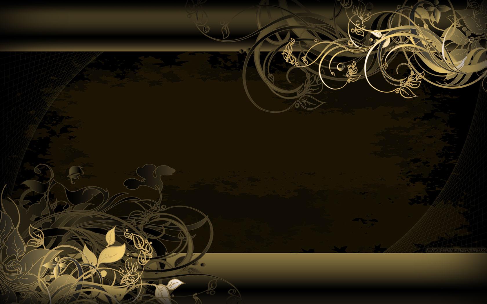 Black And Gold Vintage Wallpaper WallpaperHDCcom 1680x1050