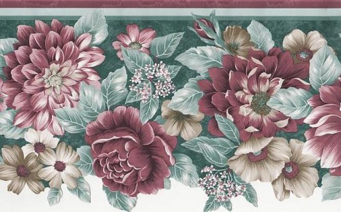 Wallpaper border sculptured sunworthy floral ebay 665x415