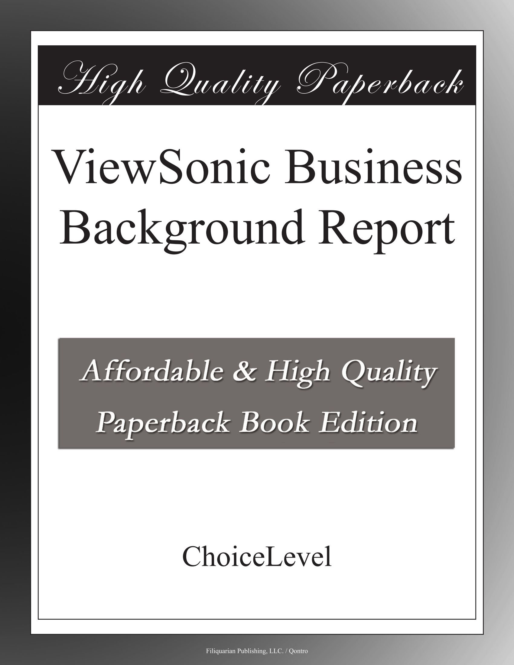 Buy ViewSonic Business Background Report Book Online at Low Prices 1700x2200