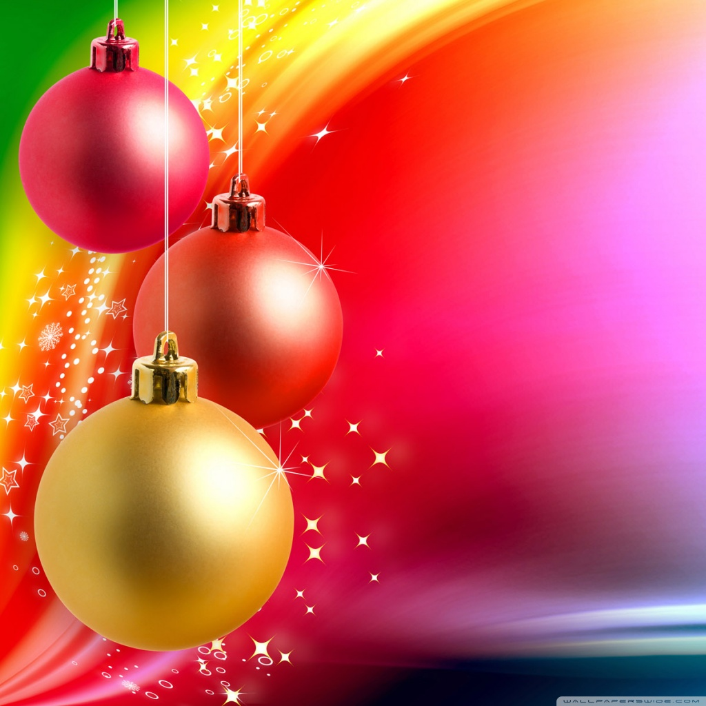 Colorful Christmas Background 4K HD Desktop Wallpaper for 4K 1024x1024